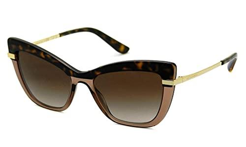 Dolce & Gabbana gafas de sol DG4374 325613 parte SUPERIOR de la HABANA EN TRANSP MARRÓN Havana brown tamaño de 54 mm de Mujer