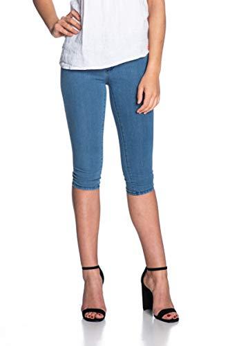 ONLY Damen Onlrain Reg Sk Knickers Pnt Cry5055 Noos Shorts, Blau (Medium Blue Denim Medium Blue Denim), M 32L EU