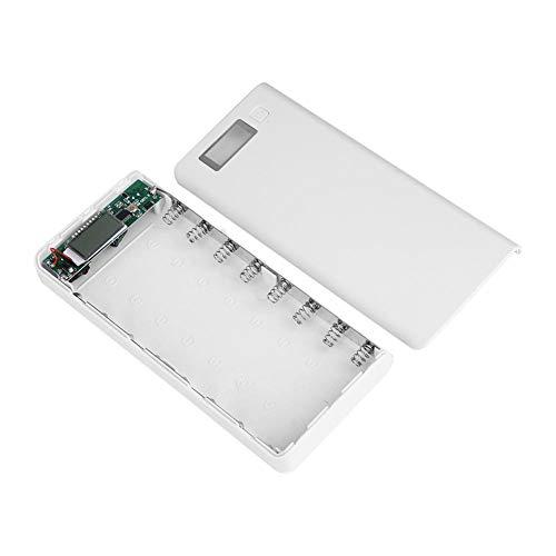 Zerone 8Ranuras–Cargador Universal para 3,7V IMR LI-Ion 18650baterías con Puertos USB y Pantalla LCD