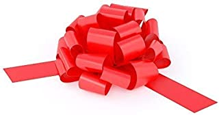 Big Red Bow for Car - 28 Giant Fluffy Loops for Your Large Gift Decoration, Perfect Shape Car Bow, Giant Bow for Car