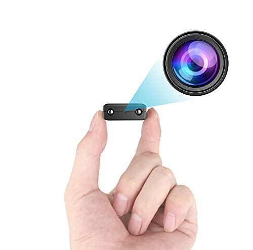 Kleinste WLAN-Kamera, kabellose Mini-Kamera, HD1080P Videokamera HD mit Nachtsicht, AI-Bewegungserkennung, Cloud-Speicher, Fernüberwachung für Sicherheit mit iOS, Android-Handy-App