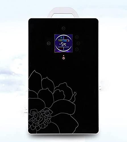 Nevera Eléctrica Portátil Mini refrigerador de coche 16L Dual-Core LCD Mostrar el refrigerador de maquillaje 22 0V 12V Frigorífico congelador congelador multifunción Frigorífico portátil para alimento