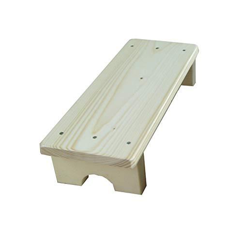 Paso taburete de cocina Utilidad de madera Escalera Pequeño Pie taburetes de madera de heces for adultos niño de flor cubierta Estante Estante de almacenamiento Balcón ** (Color: NEGRO, Tamaño: 50x20x