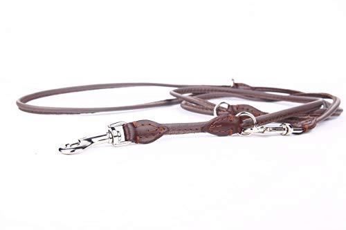 HOGACA edele Echt-Leder-Hundeleine 960 6mm 220cm für ganz kleine Hunde
