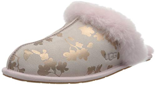 UGG Australia Damen Scuffette II Floral Foil Hausschuh, Muschelrosa, 38 EU