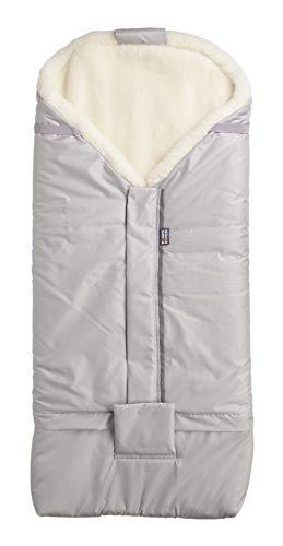 Kaarsgaren Saco de invierno de lana de merino apto para todos los cochecitos, cochecitos, sillitas de bebé, saco de abrigo de invierno con cremallera, lavable, color gris claro