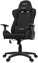 Arozzi Forte Racing Style Fabric Gaming Chair with High Backrest, Recliner, Swivel, Tilt, Rocker & Seat Height Adjustment, Lumbar & Headrest Pillows Included - Black (FORTE-FB-BLACK)