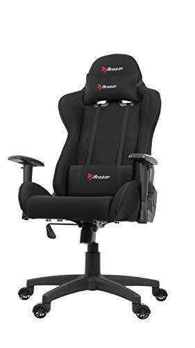 Arozzi Mezzo V2 Fabric Gaming Stuhl, Schwarz, 53 x 50 x 137 cm