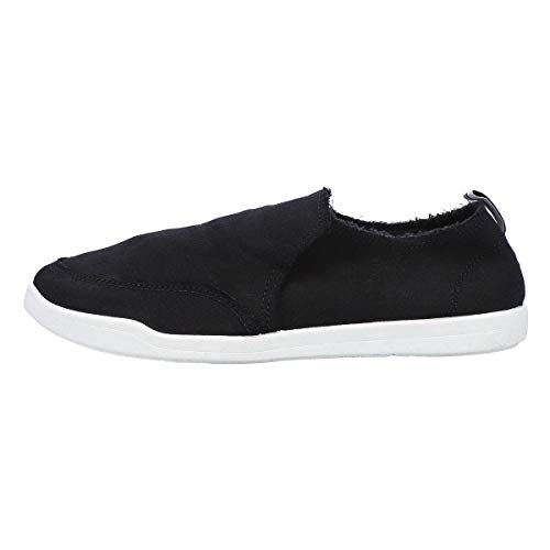 Vionic Beach Malibu Casual Women's Slip On Sneakers-Sustainable Shoes That Include Three-Zone Comfort with Orthotic Insole Arch Support, Machine Wash Safe- Sizes 5-11 Black Canvas 9 Medium US