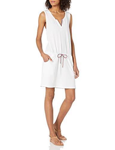 Tommy Hilfiger Damen Sleeveless Tank Dress Coverup Bademode, Cover-Up, weiß, Small