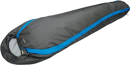 High Peak Schlafsack Pak 1000, Dunkelgrau/Blau, 225 x 80 x 8 cm