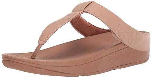 FitFlop Mina Adjustable Toe Post-Leather, Sandalias de Punta Descubierta Mujer