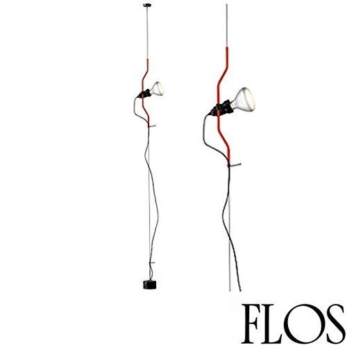 Flos Parentesi F5600035 - Lámpara de techo regulable, color rojo