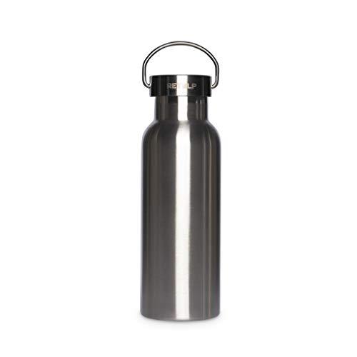 Retulp Urban Drinkfles thermosfles dubbelwandig, Zilver, 500 ml