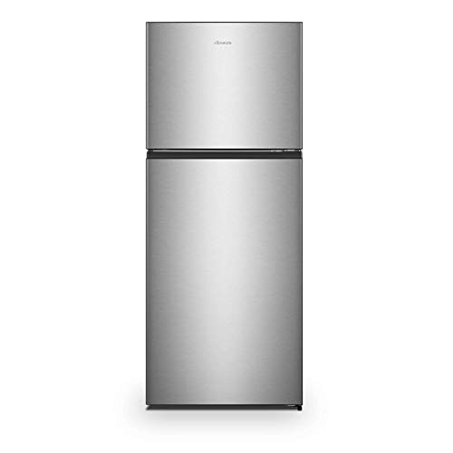 Hisense 411 L 2 Star Inverter Frost-Free Double Door Refrigerator (RT488N4ASB2, Stainless steel)