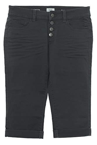 Q/S by s Oliver Catie Slim Fit Jeans Bermuda Caprijeans Hose Damen Stretch Denim, Farbe:dunkelgrau, Damengrößen:36