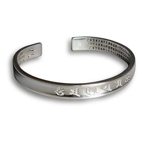 STYLE4-NATURE® Tibetisch - Buddhistisches Mantra-Armband Armreif für Frauen u. Männer Geschenk für Glück & Harmonie