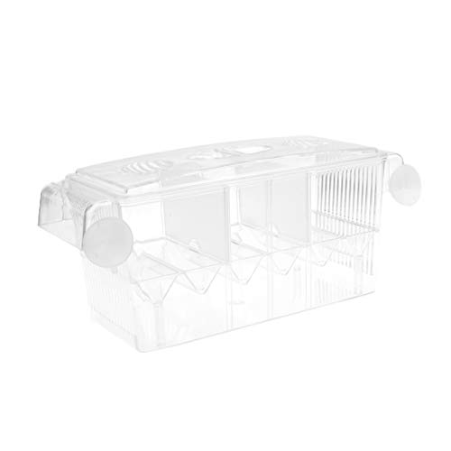 Balacoo Hang-on Tank Divider Incubator Aquarium Isolation Breeding Hatchery Box met zuignap vis