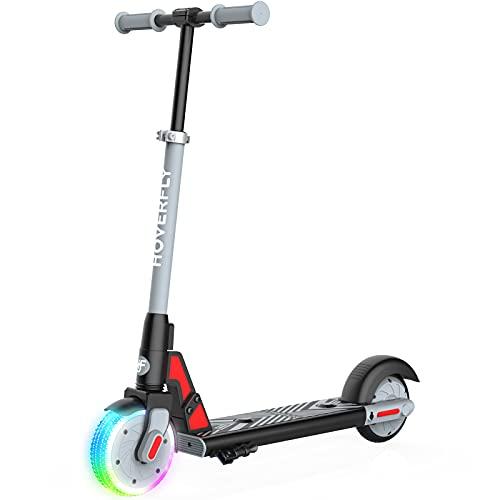 """Elektro Scooter für Kinder, HOVERFLY GKS LUMIOS 150W Elektroroller für Kinder 6-12, LED Leuchtvorderrad, 6\"""" Vollreifen, 3 Höhenverstellbar, Kinderroller für Jungen und Mädchen, bis 55kg"""