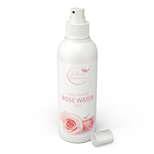 Rosenwasser 100{e2bcd600e8400e28a130d91dc847b0e5a4be92941c29a76ba8388ca971619c82} reines, natürlich, vegan, BIO aus Damaszener Rose 200ml – Gesichtswasser - Bodyspray - Made in Germany