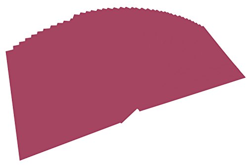 folia 614/50 27 - Fotokarton DIN A4, 300 g/qm, 50 Blatt, weinrot - zum Basteln und kreativen Gestalten von Karten, Fensterbildern und für Scrapbooking