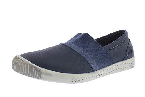 Softinos Damen Loafers INO, Frauen,Slipper,lose Einlage,Slip-ons,freitzeitschuhe,offener,einschlupf,Lady,Ladies,Women's,Blau (Navy),39 EU / 6 UK