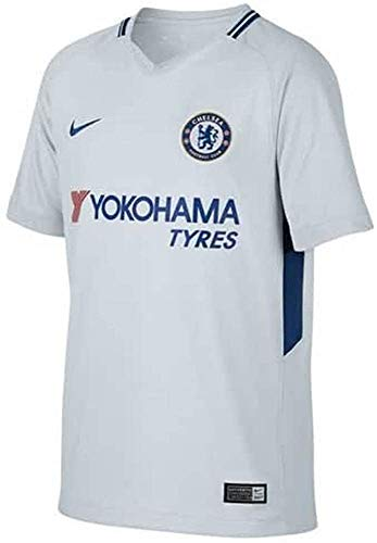 Nike Kinder Trikot Breathe Chelsea Stadium, Pure Platinum/Rush Blue, L, 905540-044