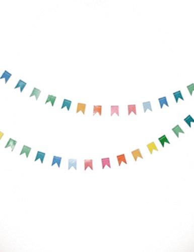 Guirlande mini fanions multicolores 2 m - taille - Taille Unique - 233844