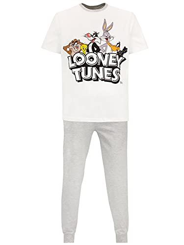Looney Tunes Pijama para Hombre Gris S
