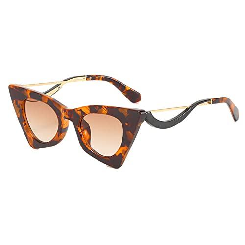 kowaku Gafas de Sol Cuadradas con Forma de Ojo de Gato, Estilo Vintage, Lentes Teñidas, Gafas para Mujer, UV 400, Gafas con Montura de Ojo de Gato - marrón