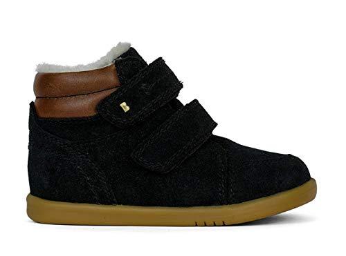 Bobux I-Walk Timber Arctic Boot with Merino Fleece - Caminantes - Una Bota de Piel de Serraje, Forro de Piel, Suela Flexible y Resistente (Black, 23)