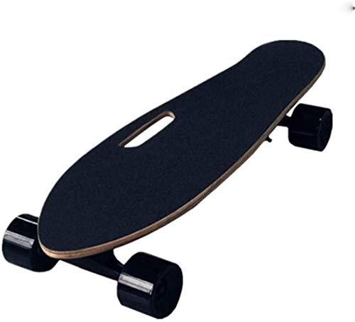 Nfudishpu Kein Logo Electric 4-Rad-Roller, hochelastisch Thickened PU Wheel, elektrisches Skateboard, drahtlose ferngesteuerte Skateboards, tragbares E-Skateboard
