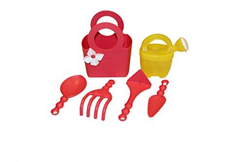 Outils de jardin pour enfant en plastique Set 6 pièces Rouge