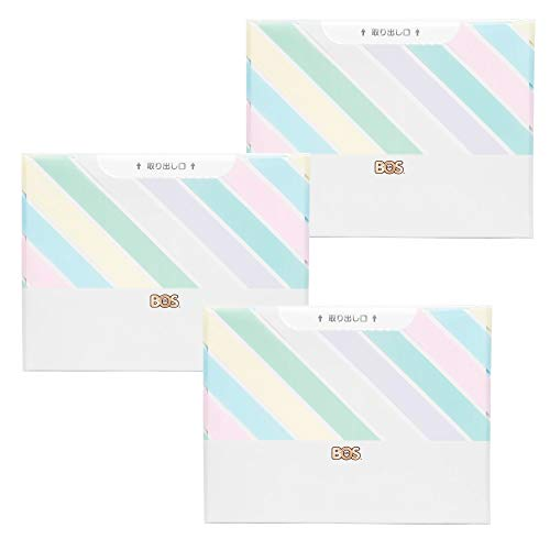 臭わない袋 BOS (ボス) ストライプパッケージ/白色Sサイズ30枚入× 3セット