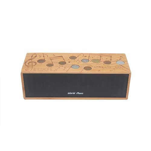 Sistema estéreo de Graves con Altavoz inalámbrico Bluetooth, Sistemas de Sonido Envolvente de Altavoz de estantería, Madera, con 8 Horas de reproducción