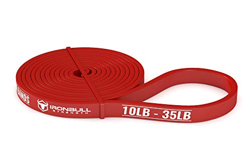 Pull Up Assist Band, Premium Stretch Resistance Bands - Mobility Bands - Powerlifting Bands - Extra Durable and Heavy Duty Pull-Up Bands - Works with Any Pullup Station (#1 Red - 10 to 35 lb)