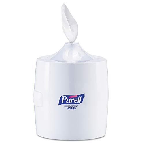 PURELL Hand Sanitizing Wipes Wall Mount Dispenser, White, High Capacity Dispenser for PURELL 1200/1500 Count Hand Sanitizing Wipes Containers (Pack of 1) – 9019-01
