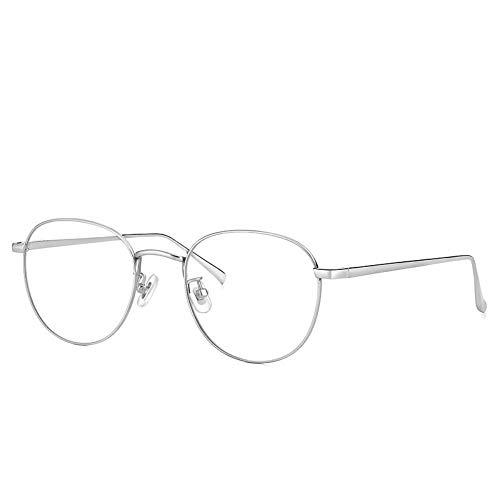 GB KK eyes Protección contra la radiación Gafas Blu-ray espejo plano sin grado gafas retro tendencia plateada