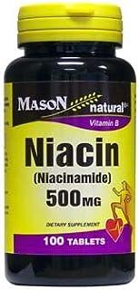 MASON NATURAL, Niacin (Niacinamide) 500 Mg Vitamin B Tablets - 100 Ea