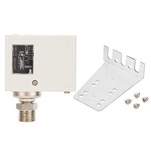 Interruptor de control de presión, interruptor de bomba de compresor de aire, interruptor Spdt confiable y duradero de acero inoxidable 24 V ~ 380 V para sistema automático de equipos de