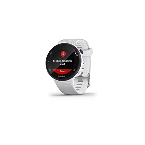 Garmin Forerunner 45s, Orologio Smart GPS per la Corsa e Altri Sport Unisex, Bianco, S