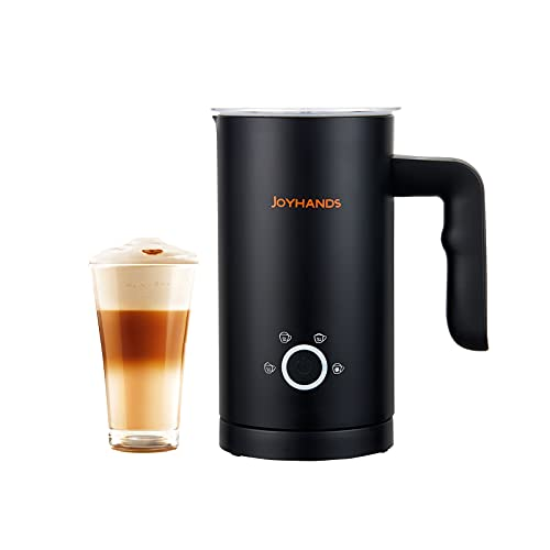 JOYHANDS Milk Frother and Steamer,4 in 1 Cold and Hot Milk Coffee Frother Automatic Foam Maker,Silent operation for Latte,Cappuccino Import Strix control 600ml,500W,120V