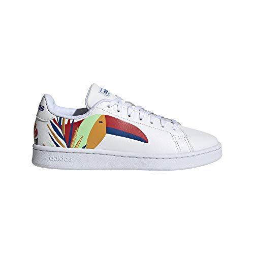 adidas Advantage, Zapatillas de Tenis Mujer, FTWBLA/FTWBLA/AZUREA, 38 2/3 EU