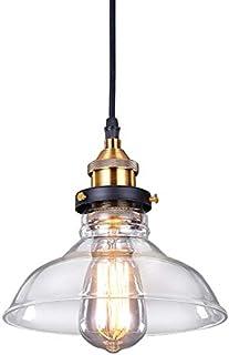 SISVIV Lámpara Colgante Vintage Industrial Luz Cristal de