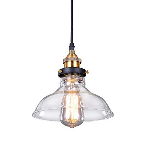 SISVIV Lámpara Colgante Vintage Industrial Luz Cristal de Techo Retro para Cocina Comedor Restaurante Bar