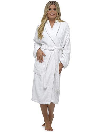 CityComfort Señoras Robe Luxury Terry Toweling algodón...