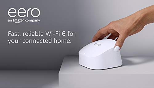 All-new Amazon eero 6 dual-band mesh Wi-Fi 6 system   with built-in Zigbee smart home hub   1-pack