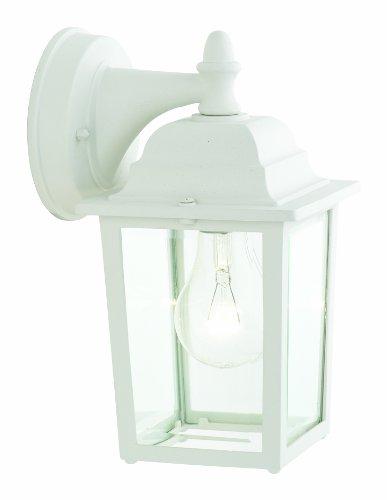 "Thomas Lighting SL94238 Hawthorne Outdoor Wall Lantern, Matte White, 6.5""L x 5.5""W x 10""H"