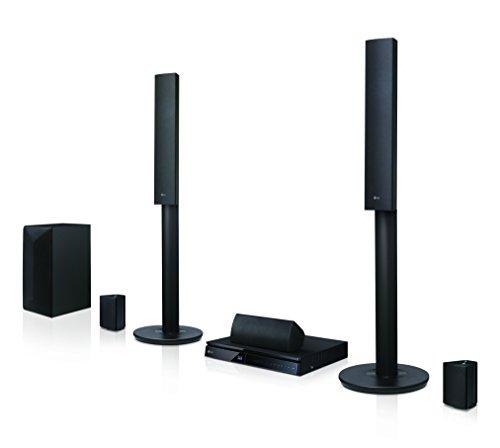 LG LHA745 5.1 3D Blu-ray Heimkinosystem (1000 Watt, Smart TV, DLNA, Bluetooth, 1080p Upscaling) | Schwarz