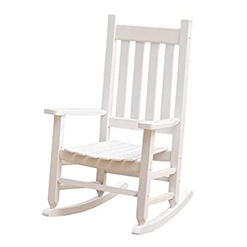 B&Z KD-23W Child s Wooden Rocking Chair Porch Rocker - Indoor/Outdoor Ages 6-10  White